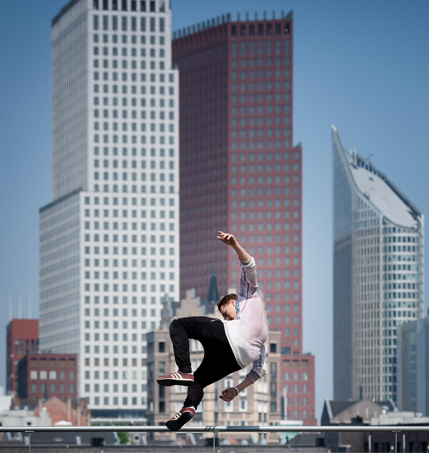 Freerunner op Dag van de Architectuur DvdA