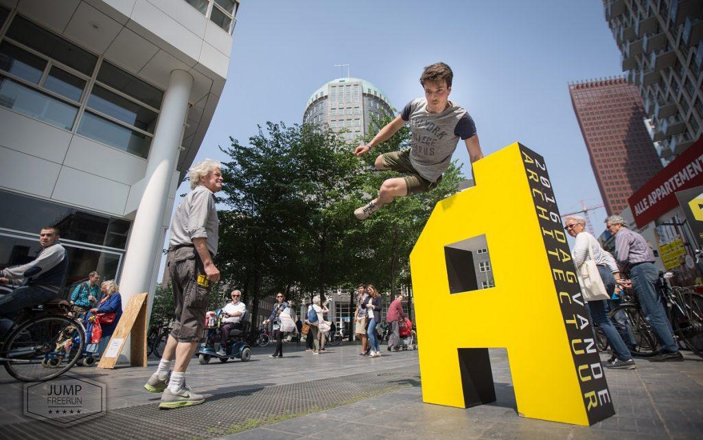 Sprong over logo Dag van de Architectuur